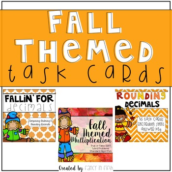 Fall Themed Task Cards {Bundle}