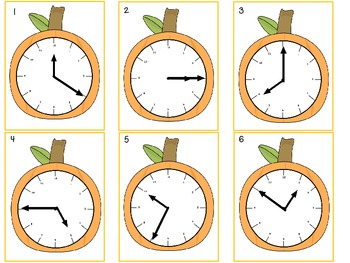 Fall-Themed Telling Time Center Activity