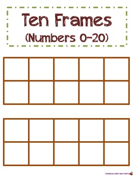 Fall-Themed Ten Frames (1-20) - Aligned with Common Core Standards