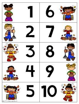 Fall Themed Ten Frame Bingo
