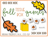 Fall Themed Tissue Box Games