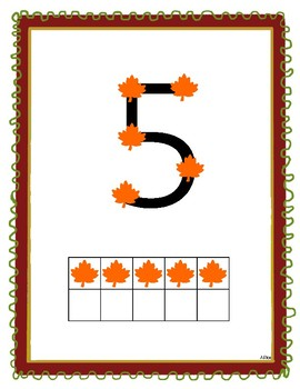 Fall Themed Touch Math Posters