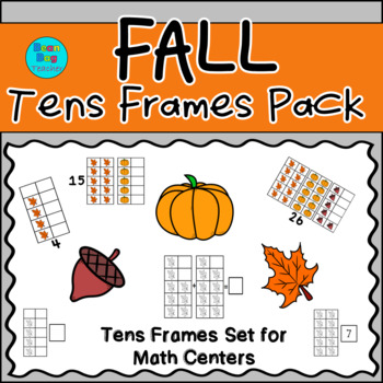 Fall Themed Vertical Tens Frames Pack