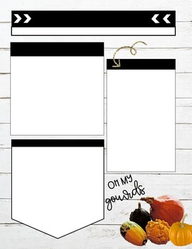 Fall Themed Weekly newsletter Templates editable