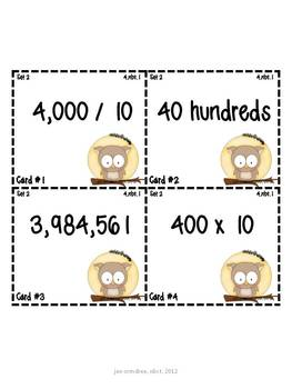 {Fall Themed} What Doesn't Belong? a place value common core aligned activity