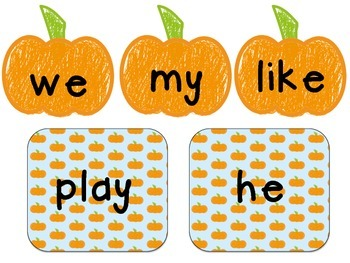 Fall-Themed Write the Room