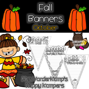 Fall Themed Writing Banners