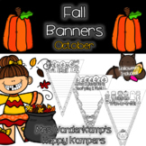 Fall Themed Writing Banners [[Halloween Included!]]