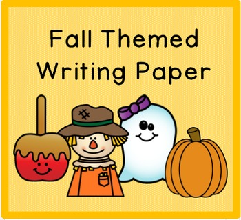 Fall Themed Writing Paper