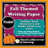 Fall Themed Writing Paper Freebie