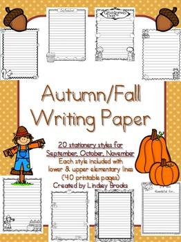 Fall Autumn Writing Paper
