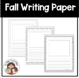 Fall Themed Writing Papers