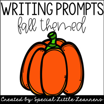 Fall Themed Writing Prompt Task Cards