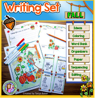 Fall Themed Writing Set K-3