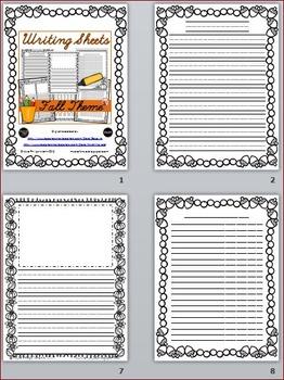 Fall Themed Writing Sheets