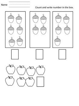 Fall Themed kindergarten Packet..Math and Literature