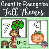 Fall Themes Count to Recognize Number Mats 0 to 10