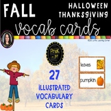 Fall Themes Vocabulary Word Cards