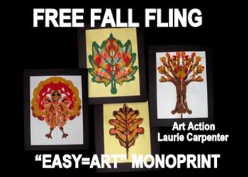 """""""Fall Things"""" Easy-art Mono-print"""