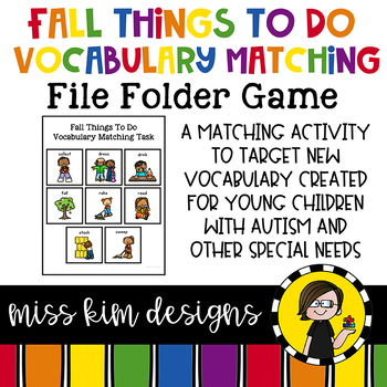 Fall Things To Do Vocabulary Folder Game for Special Education