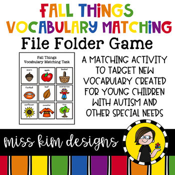 Fall Things Vocabulary Folder Game for Special Education