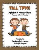 Fall Time ~ Alphabet and Number Hunt Pack