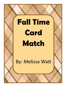 Fall Time Card Sort