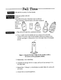 Fall Time Experiment (viscosity of Liquids)