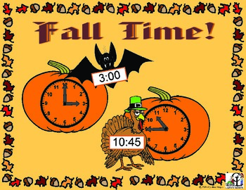 Fall Time:  Telling Time to the 15 Minute Interval