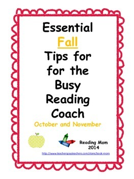 Fall Tips for Literacy Coaches and Reading Specialists