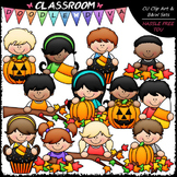 Fall Topper Kids Clip Art - Autumn / Halloween Toppers Cli