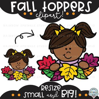 Fall Toppers Clipart {clipart toppers}