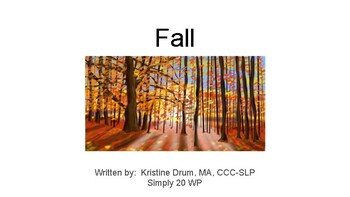 Fall-TouchChat Simply 20