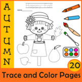 Fall Trace and Color Pages {Fine Motor Skills + Pre-writing}