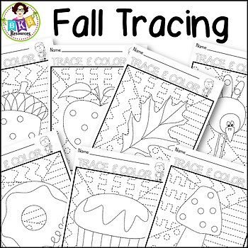 Fall Tracing Activities ● Full Page Tracing Activity ● Pre-Writing ● NO Prep