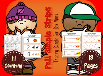Fall Tracing Bundle for The Autism Classroom
