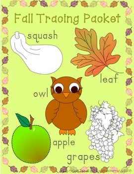 Fall Tracing Packet * Block Letters