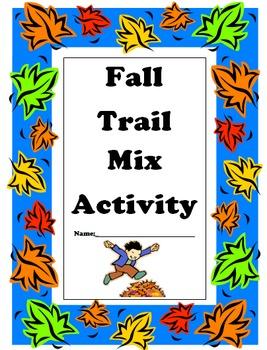 Fall Trail Mix Math Activities