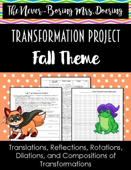 Fall Function Transformation Project Activity for Geometry/Algebra