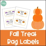 Fall Treat Bag Labels