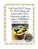 Fall Reading Celebration Treat: Dirt Pudding Recipe FREE