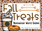 Fall Treats Nonsense Word Game