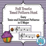 Fall Treats Tonal Pattern Hunt - G Major