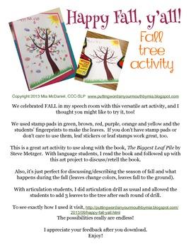 Fall Tree Activity {FREEBIE!}