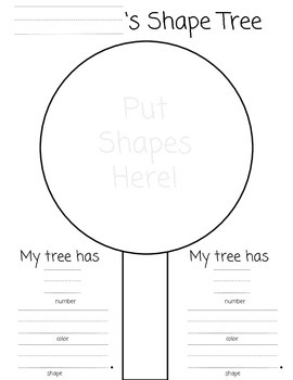 Fall Tree Activity on Shapes Colors and Numbers