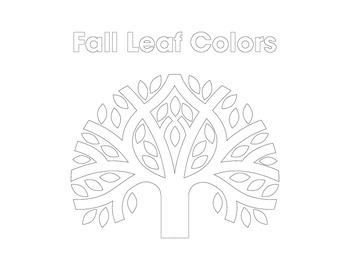 Fall Tree Coloring Sheet