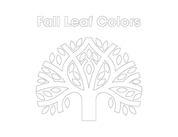 Fall Tree Coloring Sheet