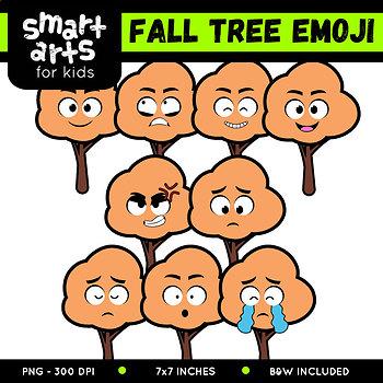 Fall Tree Emoji Clip Art