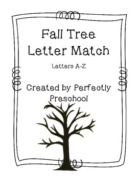 Fall Tree Letter Match