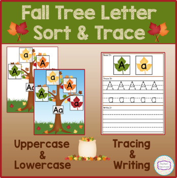 Fall Tree Letter Sort & Trace